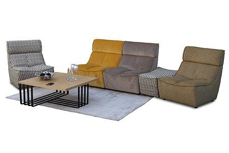 Viva - zestaw mebli wypoczynkowych modułowych, przykład, prezentacja, aranżacja wnętrza salonu