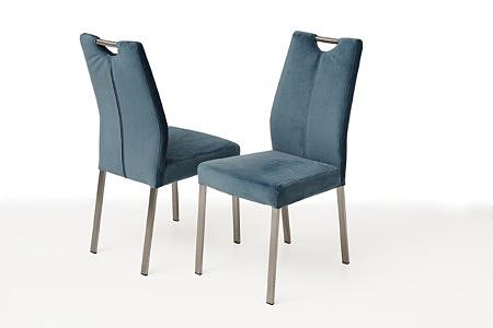 Nowoczesne krzesło tapicerowane na metalowych nogach 1