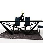 Nowoczesne krzesło tapicerowane na metalowych nogach