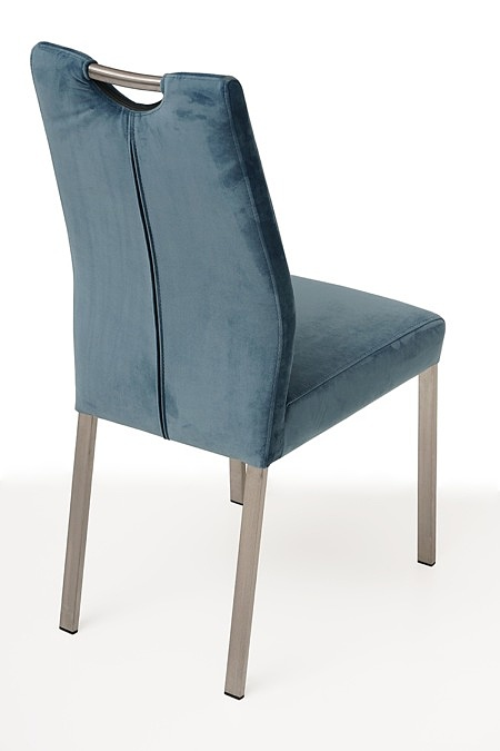 nowoczesne krzesło tapicerowane na metalowych nogach 4