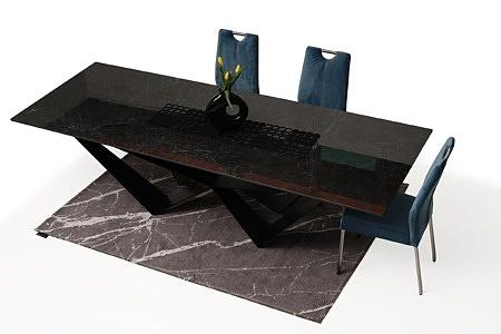 nowoczesne krzesło tapicerowane na metalowych nogach 5