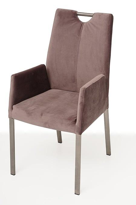 nowoczesne krzesło tapicerowane na metalowych nogach z pdłokietnikami 1