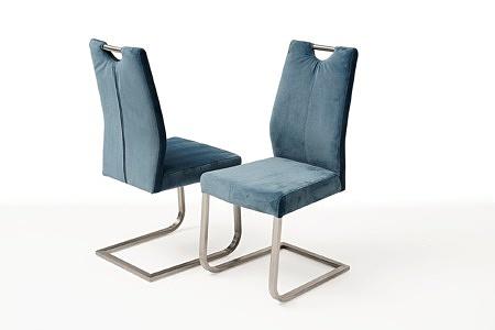nowoczesne krzesło tapicerowane na metalowych płozach 1