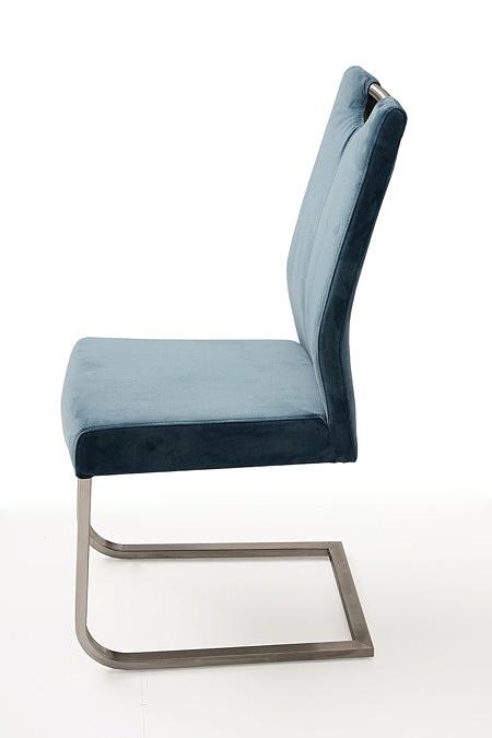 nowoczesne krzesło tapicerowane na metalowych płozach 3