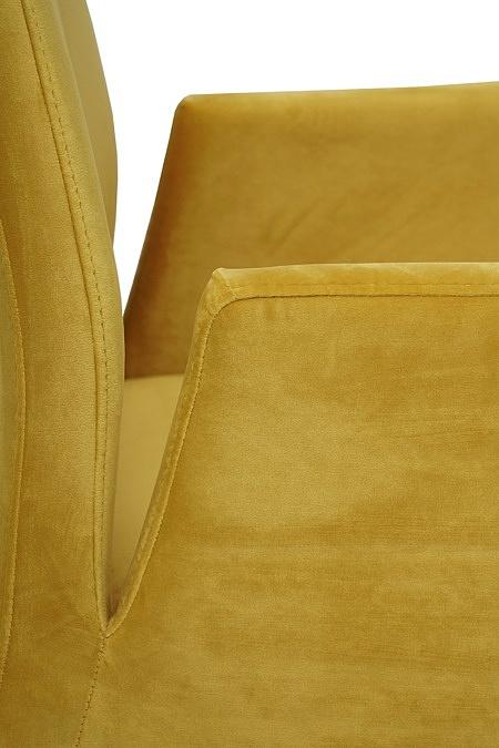 nowoczesne krzesło tapicerowane na metalowych płozach z podłokietnikami 4