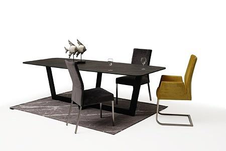 nowoczesne krzesło tapicerowane na metalowych płozach z podłokietnikami 5