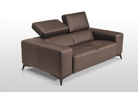 Nowoczesna sofa skórzana z funkcją relax Dobrodzień tcmeble.pl - prawdziwa sofa klasy premium, skóra naturalna brązowa, nowoczesny design