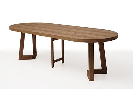 nowoczesny okrągły drewniany stół roskładany