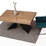 nowoczesny rozkladany stół z blatem w dębie sękatym szczotkowanym 2