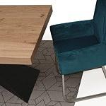 nowoczesny rozkladany stół z blatem w dębie sękatym szczotkowanym 3