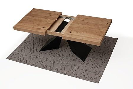nowoczesny rozkladany stół z blatem w dębie sękatym szczotkowanym 4