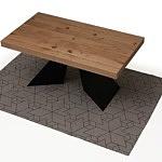 Nowoczesny rozkładany stół z blatem w dębie sękatym szczotkowanym 5