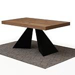 Nowoczesny rozkładany stół z blatem w dębie sękatym szczotkowanym 8