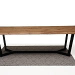 Nowoczesny stół z drewnianym blatem2