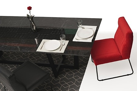 nowoczesny stół z nogami z metalu z polerowanym blatem ze spieku07