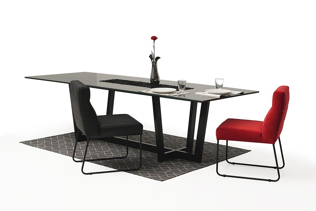 nowoczesny stół z nogami z metalu z polerowanym blatem ze spieku12