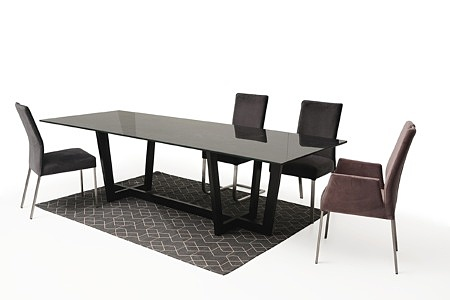 Nowoczesny stół z nogami z metalu z polerowanym blatem ze spieku13