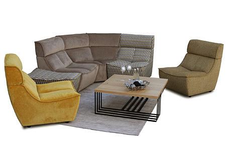 Viva - piękne wygodne i nowoczesne meble wypoczynkowe modułowe zaaranżowane we wnętrzu salonu
