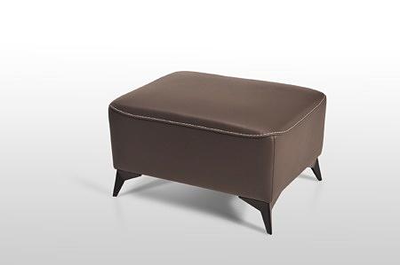 Elegancka pufa skórzana LONGO, wymiar 75x55 wygodne siedzisko miękka skóra
