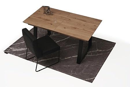 Roskładany stół z metalowymi nogami z drewnianym blatem3