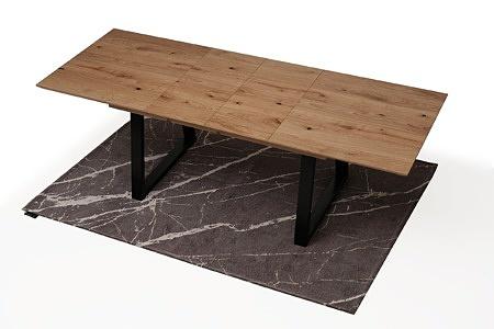 Roskładany stół z metalowymi nogami z drewnianym blatem4