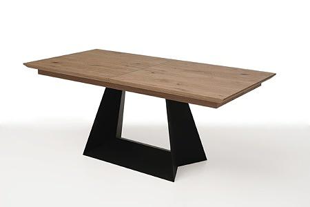 rozciągany stół z drewnianym blatem z metalowymi nogami4
