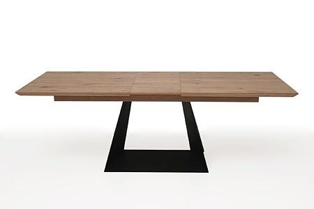 rozciągany stół z drewnianym blatem z metalowymi nogami6