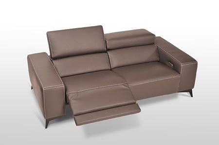 Sofa skórzana Longo- relax elektryczny nowoczesny komplet wypoczynkowy gruba skóra s4
