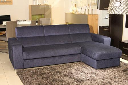 Sofa w materiale i skóże narożnikwygodna zgrabna 01