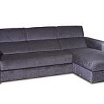 Sofa w materiale i skóże narożnikwygodna zgrabna 02