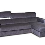 Sofa w materiale i skóże narożnikwygodna zgrabna 03