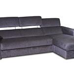 Sofa w materiale i skóże narożnikwygodna zgrabna 04