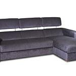 Sofa w materiale i skóże narożnikwygodna zgrabna 05