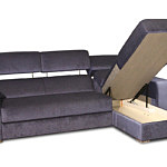 Sofa w materiale i skóże narożnikwygodna zgrabna 06