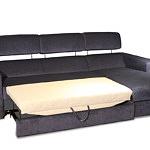 Sofa w materiale i skóże narożnikwygodna zgrabna 07