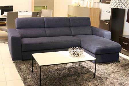 Sofa w materiale i skóże narożnikwygodna zgrabna 08