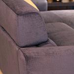 Sofa w materiale i skóże narożnikwygodna zgrabna 10