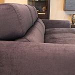 Sofa w materiale i skóże narożnikwygodna zgrabna 11