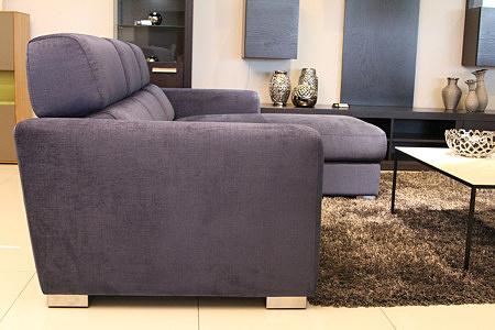 Sofa w materiale i skóże narożnikwygodna zgrabna 12