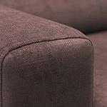 Sofa w materiale i skóże narożnikwygodna zgrabna 13