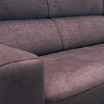 Sofa w materiale i skóże narożnikwygodna zgrabna 14