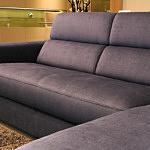 Sofa w materiale i skóże narożnikwygodna zgrabna 15