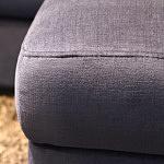 Sofa w materiale i skóże narożnikwygodna zgrabna 16