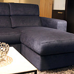 Sofa w materiale i skóże narożnikwygodna zgrabna 18