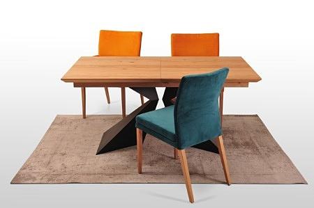 Stół a2 czarna metalowa noga proszkowe malowanie rozkładany blat 160x90 do 240 cm