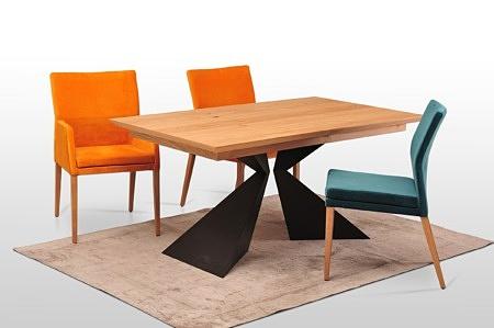 Stół a2 na metalowej nodze koloru czarnego malowana proszkowo różne wymiary 160x90 rozkładany blat