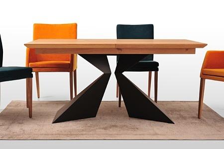 Stół origami a2 arkusze blachy czarny kolor niewidoczny spaw prostota i piękno w nowoczesnym wydaniu