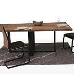Stół z metalowymi nogami z blatem z drewna04
