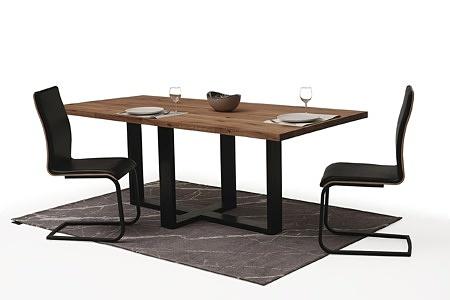 Stół z metalowymi nogami z blatem z drewna05