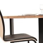 Stół z metalowymi nogami z blatem z drewna06